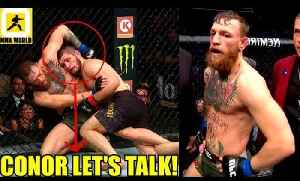 Khabib was talking to Conor McGregor while mauling him in Round 2,Kavanagh on Conor [Video]