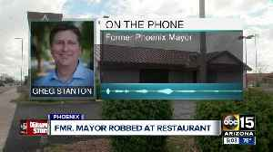 Former mayor Greg Stanton robbed by man with hatchet in Phoenix [Video]