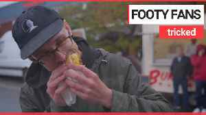 Football fans fooled into eating meat-free burgers [Video]