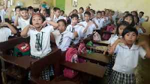 Primary school children give teacher a very enthusiastic morning greeting [Video]