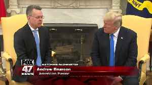 Released US pastor Andrew Brunson returns to US, meets with Trump [Video]