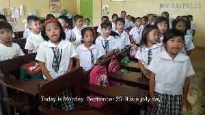 Pupils Give VERY Enthusiastic Good Morning Welcome [Video]