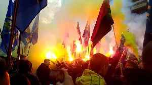 Ukranian nationalists march in Kiev to honour WWII-era paramilitary group [Video]