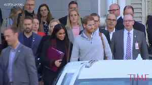Prince Harry and Meghan Markle Arrive in Australia to Start 16-Day Pacific Tour [Video]