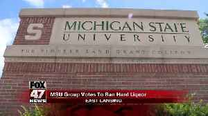 Group at MSU votes to ban hard liquor at fraternity events [Video]