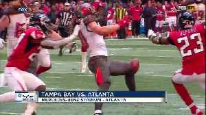 Ball finally bounces for the Atlanta Falcons in their 34-29 victory over the Tampa Bay Buccaneers