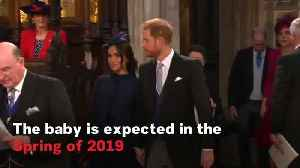 Prince Harry & Meghan Markle Announce They Are Expecting A Baby [Video]