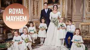 Royal kids steal Princess Eugenie's thunder in wedding portrait [Video]