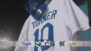 Dodger Stadium Gets Ready For Game 3 Of NLCS [Video]