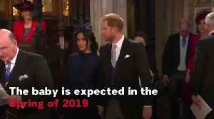 Prince Harry And Meghan Markle Announce They Are Expecting A Baby [Video]