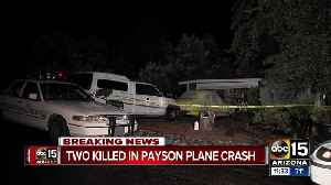 Officials identify two people killed in Payson plane crash [Video]