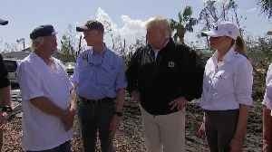 WEB EXTRA: President Trump and First Lady Melania Survey Storm Damage in Florida Panhandle [Video]