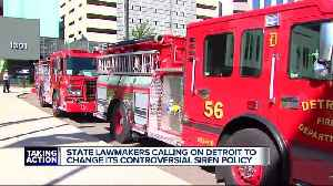 State lawmakers, Detroit firefighters' union discuss 'no lights, no sirens' policy [Video]