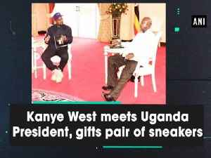 Kanye West meets Uganda President, gifts pair of sneakers [Video]