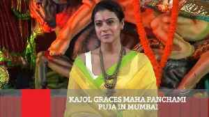 Kajol Graces Maha Panchami Puja In Mumbai [Video]