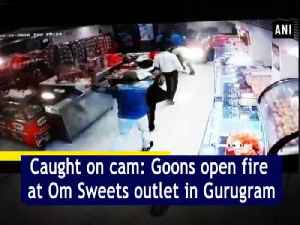 Caught on cam: Goons open fire at Om Sweets outlet in Gurugram [Video]
