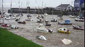 After Storm Callum: Capsized boats in Welsh harbour [Video]