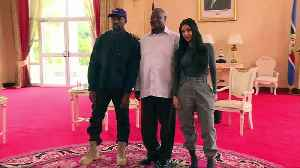 Kanye West and Kim Kardashian Met With the President of Uganda [Video]