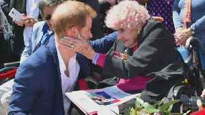 Prince Harry Again Reunites With 98-Year-Old War Widow in Australia [Video]