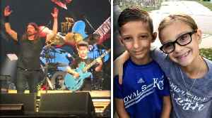 10-Year-Old Boy Who Wowed Foo Fighters' Dave Grohl Raising Money for Sick Friend [Video]