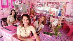 Tickled pink: Devoted teacher spends three years transforming classroom into 'Hello Kitty' haven – all at h [Video]