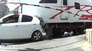 Train Hits Car On Level Crossing [Video]