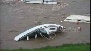 After Storm Callum: Capsized boats in harbour after Storm Callum [Video]