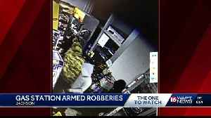 JPD searching for gas station robbers [Video]