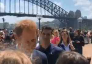 Duke and Duchess of Sussex Meet Excited Crowds Outside Sydney Opera House