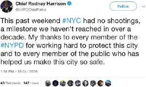 New York City Goes an Entire Weekend With No Shootings, the First Time in Decades [Video]