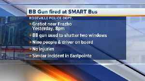 Windows shattered on SMART bus in Roseville [Video]