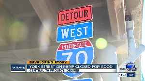 Closure of York Street ramp onto I-70 causes headaches for Denver drivers [Video]