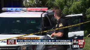 Police investigating double homicide of man and woman found dead in St. Petersburg alley [Video]