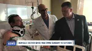 Buffalo Doctor, organization gives free spine surgery to Veteran [Video]