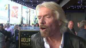 Richard Branson honored with star in Hollywood [Video]