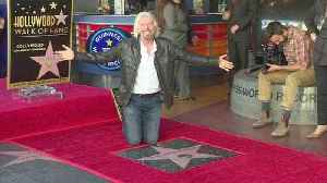 Richard Branson honoured with Hollywood star [Video]