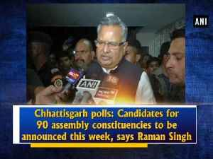 Chhattisgarh polls: Candidates for 90 assembly constituencies to be announced this week, says Raman Singh [Video]