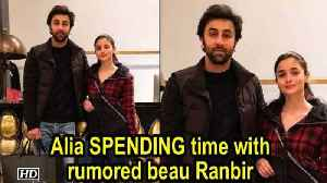 Alia SPENDING time with Ranbir in New York ! [Video]