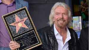 Richard Branson Gets Hollywood Walk Of Fame Star [Video]