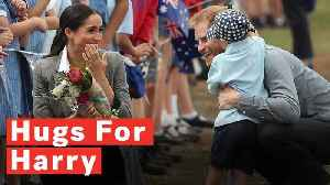 Cute Hugs For Soon To-Be Parents Prince Harry And Meghan Markle On Australia Tour [Video]
