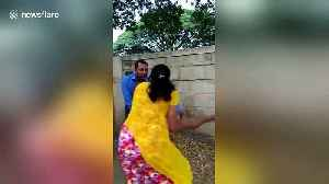 Indian woman batters bank manager after he allegedly makes sexual advances [Video]