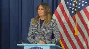 Melania Trump Jokes About Being Late Following Plane Scare [Video]