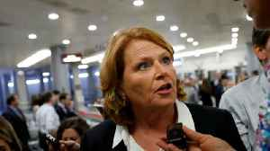 Sen. Heidi Heitkamp calls women to apologize for identifying them in ad [Video]