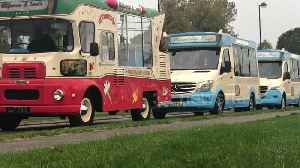 UK town sets Guinness World Record for largest ice cream truck convoy [Video]