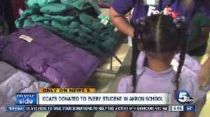 Coats donated to entire student body at Firestone Park Elementary School through Operation Warm [Video]