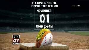 World Series Free Tacos at Taco Bell [Video]