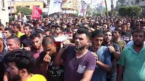 Crowds attend funeral of young Palestinian killed in Israeli strike on Gaza [Video]
