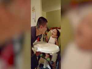 Baby Cracks Up Over Dad's Silly Antics [Video]