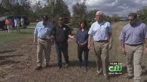 Vice President Pence, Wife Tour Areas Affected By Hurricane Michael [Video]