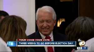 Three weeks to go before Election Day [Video]